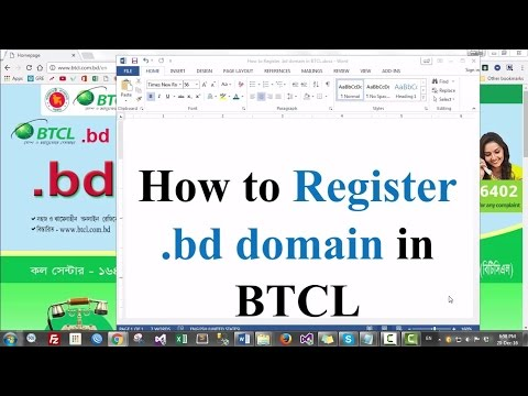 How to Register  bd domain in BTCL
