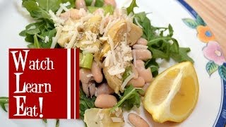 Italian Bean Salad Recipe | Cannellini Bean Salad | Watch Learn Eat