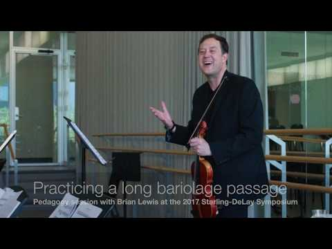 Violin practice: using blocked chords for bariolage passage