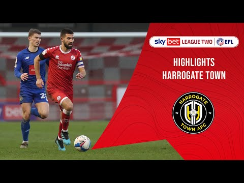 Crawley Town Harrogate Goals And Highlights
