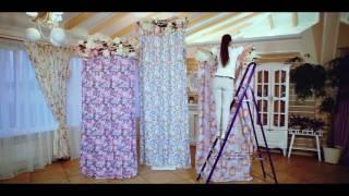 конструкция для ткани и цветов на свадьбу