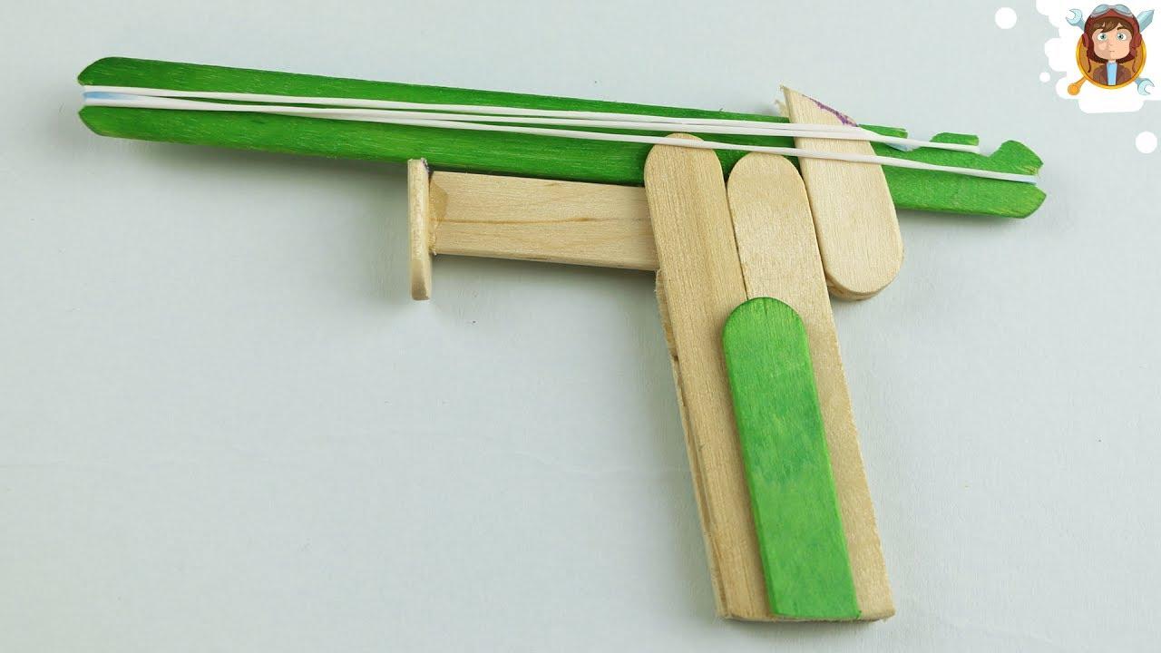 《木製銃》アイスの木のヘラやベニヤ板で☆手作りおもちゃDIY