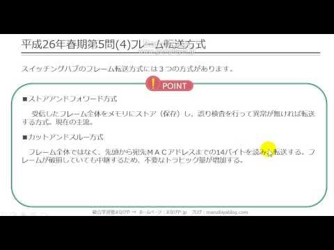 【工担・総合種】平成26年春_技術_5-4(フレーム転送方式)