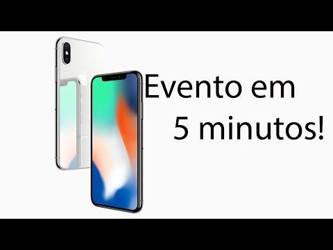 Apple iPhone 8 | iPhone X e evento completo em 5 minutos!