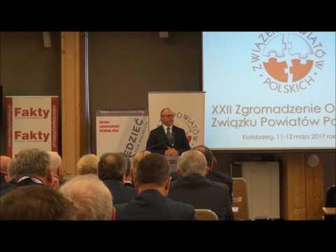 Poseł na Sejm RP Jacek Protas podczas XXII Zgromadzenia Ogólnego Związku Powiatów Polskich