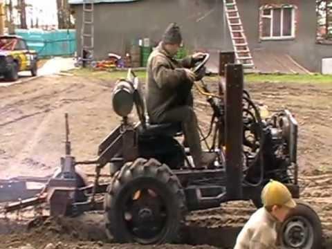 Самодельный трактор, двигатель