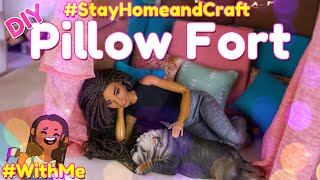 DIY - How to Make:  Doll Pillow Fort & Sofa | EASY #StayHomeandCraft #WithMe