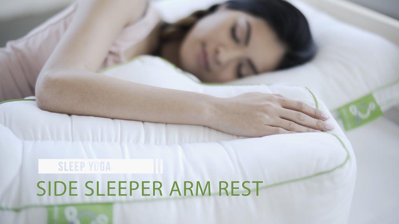 side sleeper arm rest pillow sleep yoga