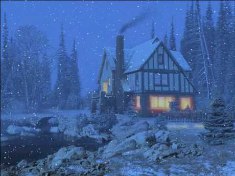 Free Snow Falling Animated Wallpaper 3d Snowy Cottage Youtube