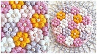 CROCHET  Flower EASY  tutorial DIY 3d crochet flowers