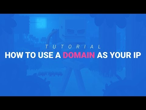 How To Turn Your Minecraft Server IP Into A Domain / Custom IP