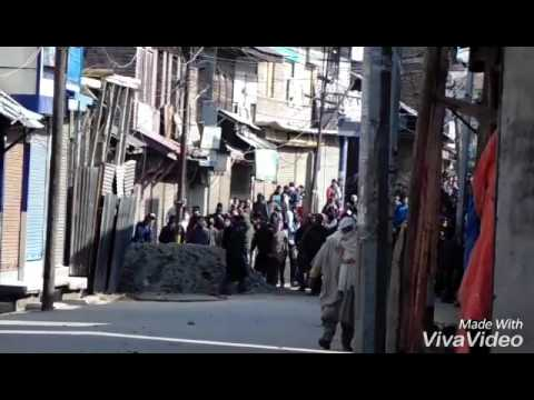 Today stone pelting after Friday prayers at sopore news by shabeer khan