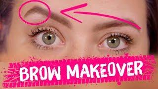INSANE EYEBROW TRANSFORMATION (Beauty Trippin)