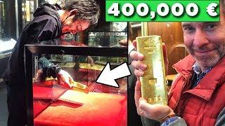 SE RIESCI AD ESTRARRE QUESTO LINGOTTO D'ORO DA 400,000 € , E' TUO GRATIS!!