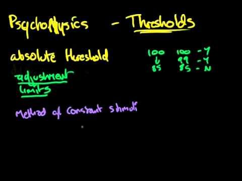 16 Psychophysics - Absolute threshold