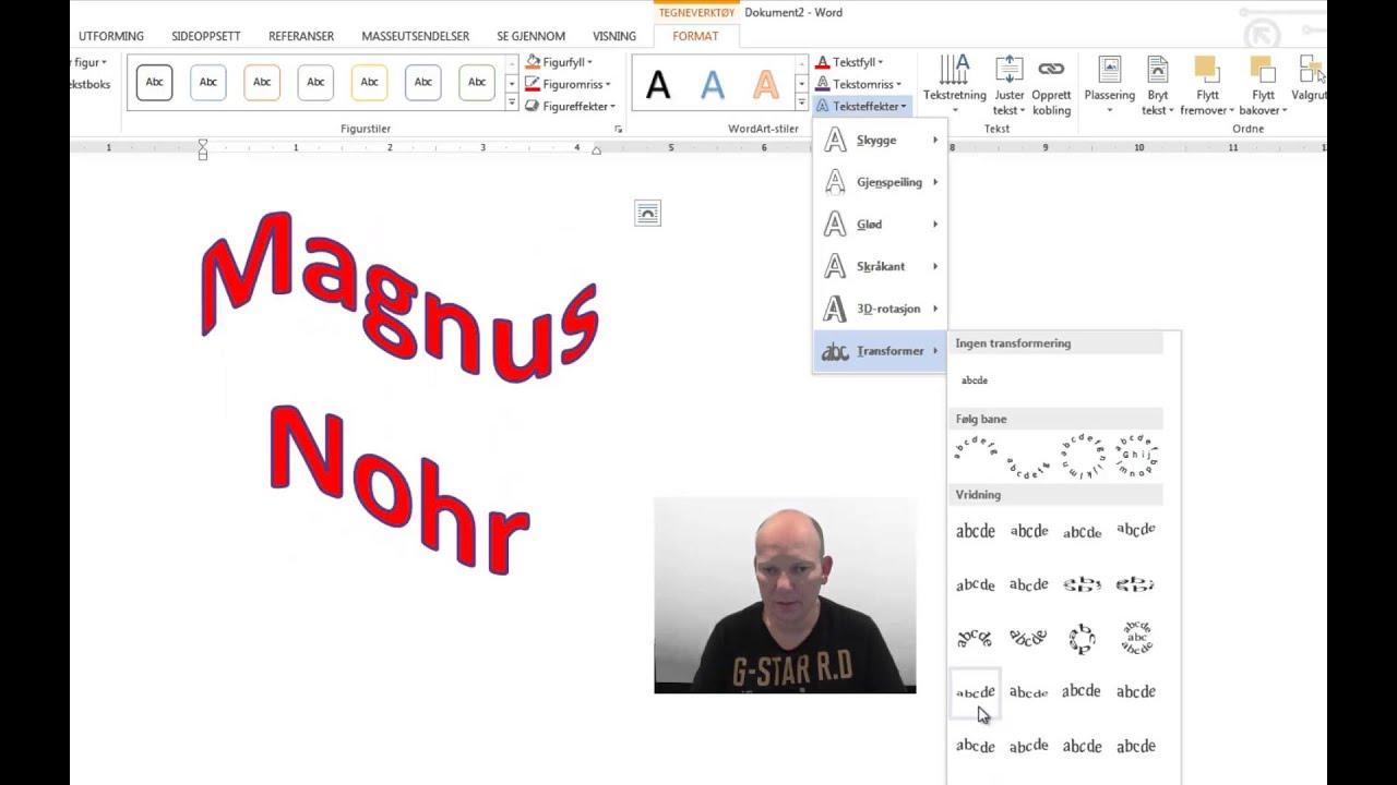 adding wordart in word 2013