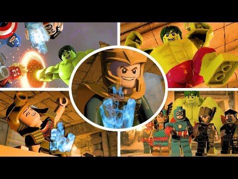 LEGO Marvel Super Heroes 2 Walkthrough Part 16 - Solve Egypt Pyramid Puzzles & Defeat Living Mummy