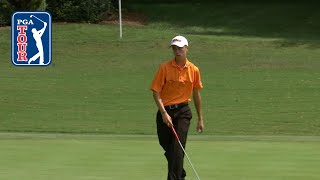 Posting an opening-round five-under 65, 16-year-old justin thomas made his pga tour debut at the 2009 wyndham championship sedgefield country club in gree...