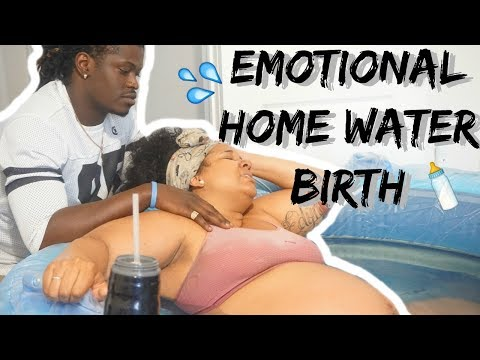 OUR EMOTIONAL HOME WATER BIRTH (Live) VLOG