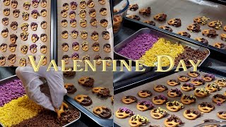 [SUB] 프레첼 초콜릿 l 다이소 재료로 초콜릿 만들…