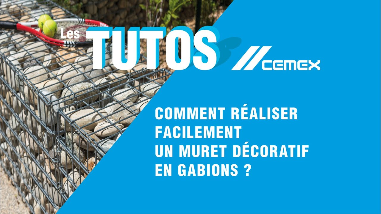 tuto diy comment r aliser facilement un muret d coratif en gabions youtube. Black Bedroom Furniture Sets. Home Design Ideas