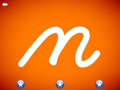 The letter m - Learn the Alphabet and Cursive Writing! - YouTube