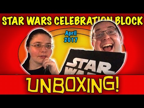 UNBOXING! Star Wars Celebration Nerd Block April 2017 - One Off Block - 동영상