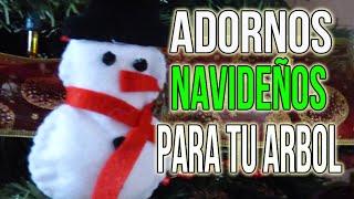 Manualidades para Navidad: Frosty de fieltro para el arbol