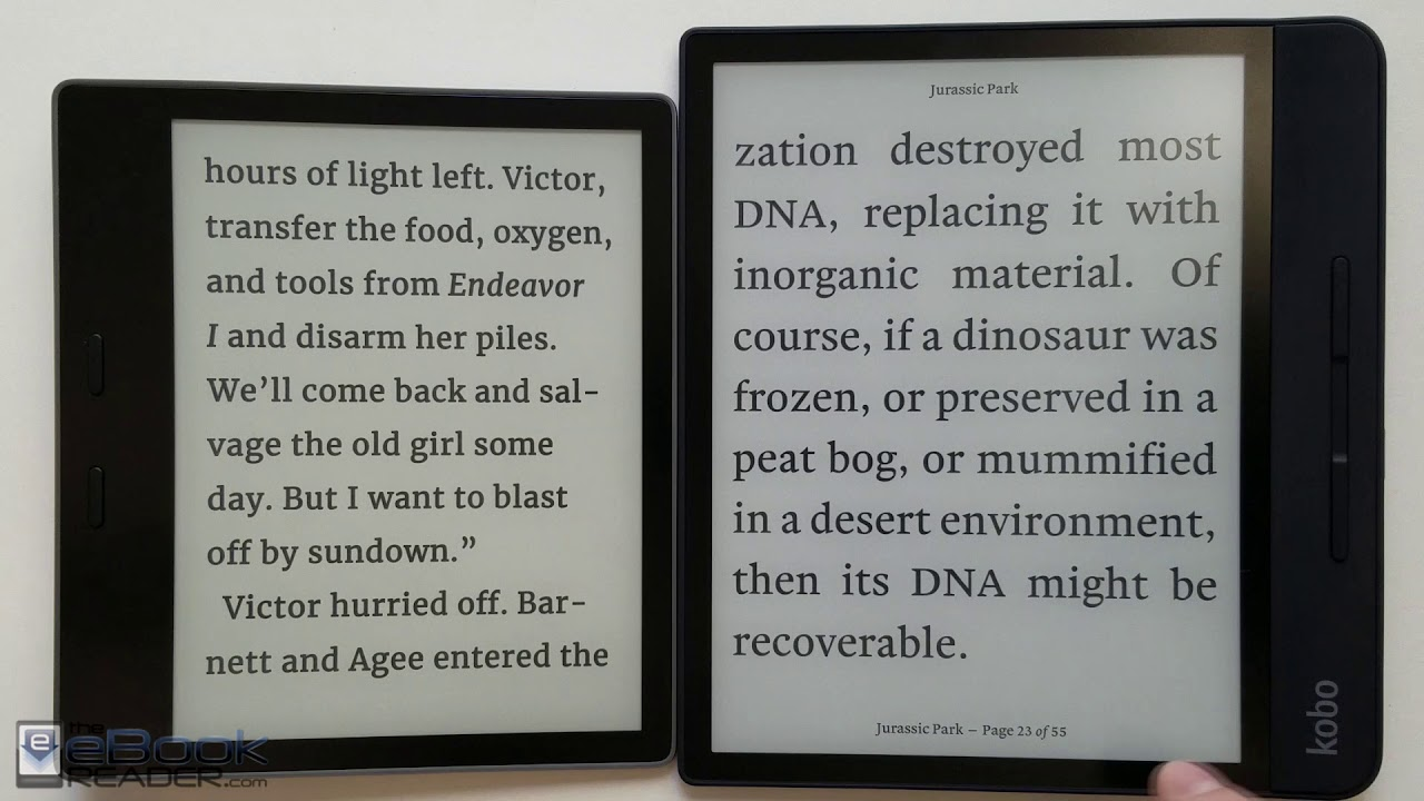 Kindle Oasis vs Kobo Forma Comparison Review