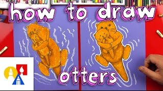 How To Draw Mom & Baby Otter