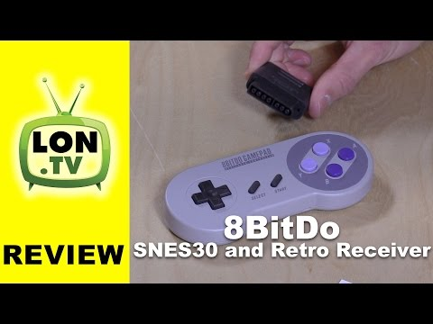 8bitdo SNES30 SNES Game Controller and Retro Receiver Review PC, Mac, Android, Wii, and SNES!
