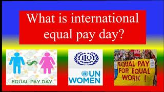 International equal pay day - 18 ...