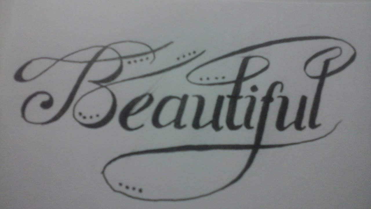 calligraphy for beginners with normal pen : beautiful