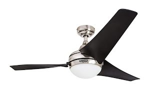 Honeywell 54-Inch Rio Ceiling Fan with Brushed Nickel Finish (50195)