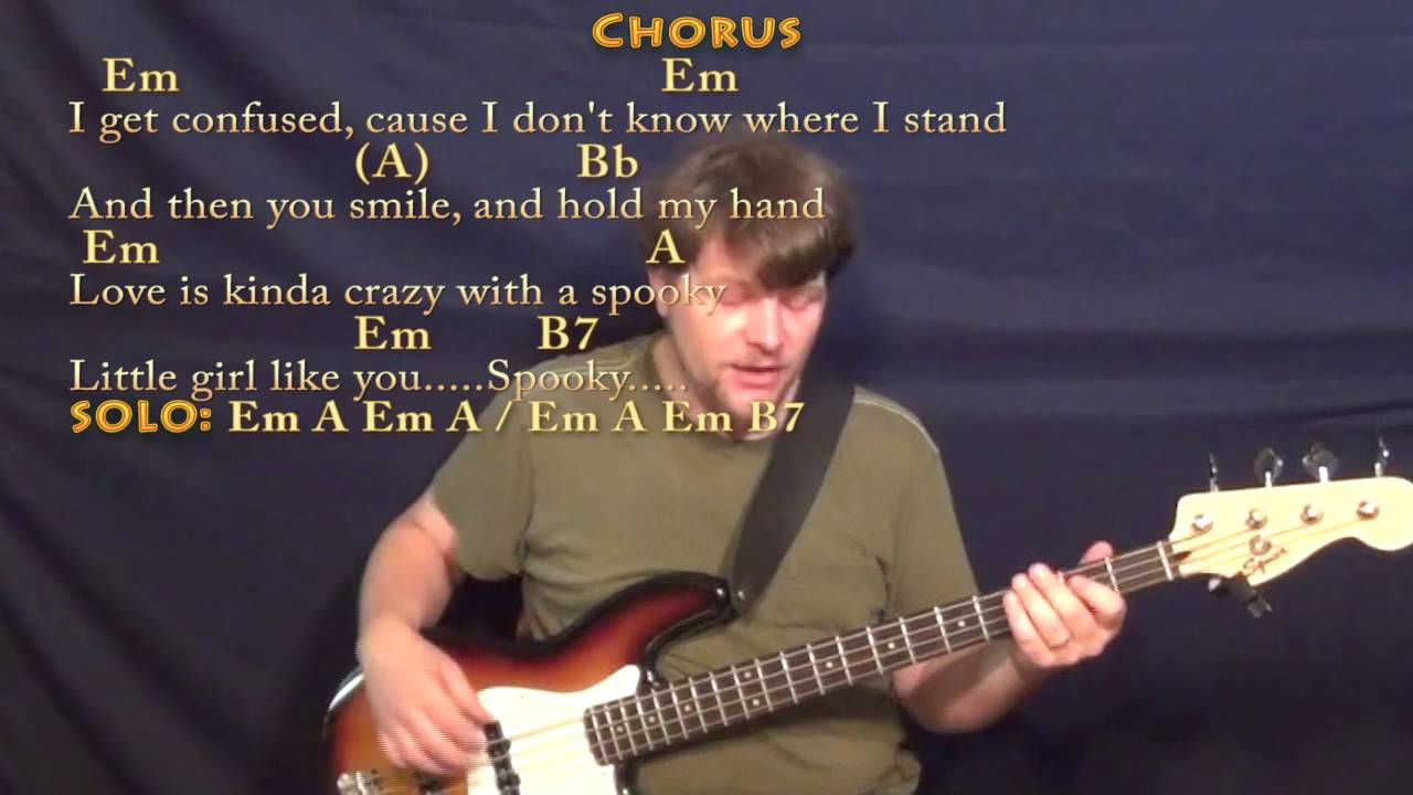 Spooky Halloween Bass Guitar Cover Lesson In Em With Chordslyrics