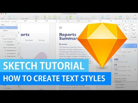 How to Create Text Styles | Sketch Tutorial thumbnail