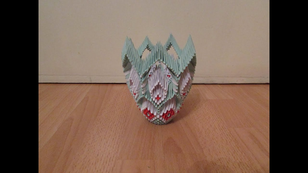3D Origami Vase Tutorial #6 - YouTube - photo#26
