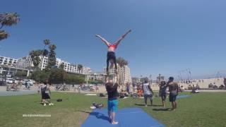 Michael Peres   Training at Santa Monica Beach on 4th July