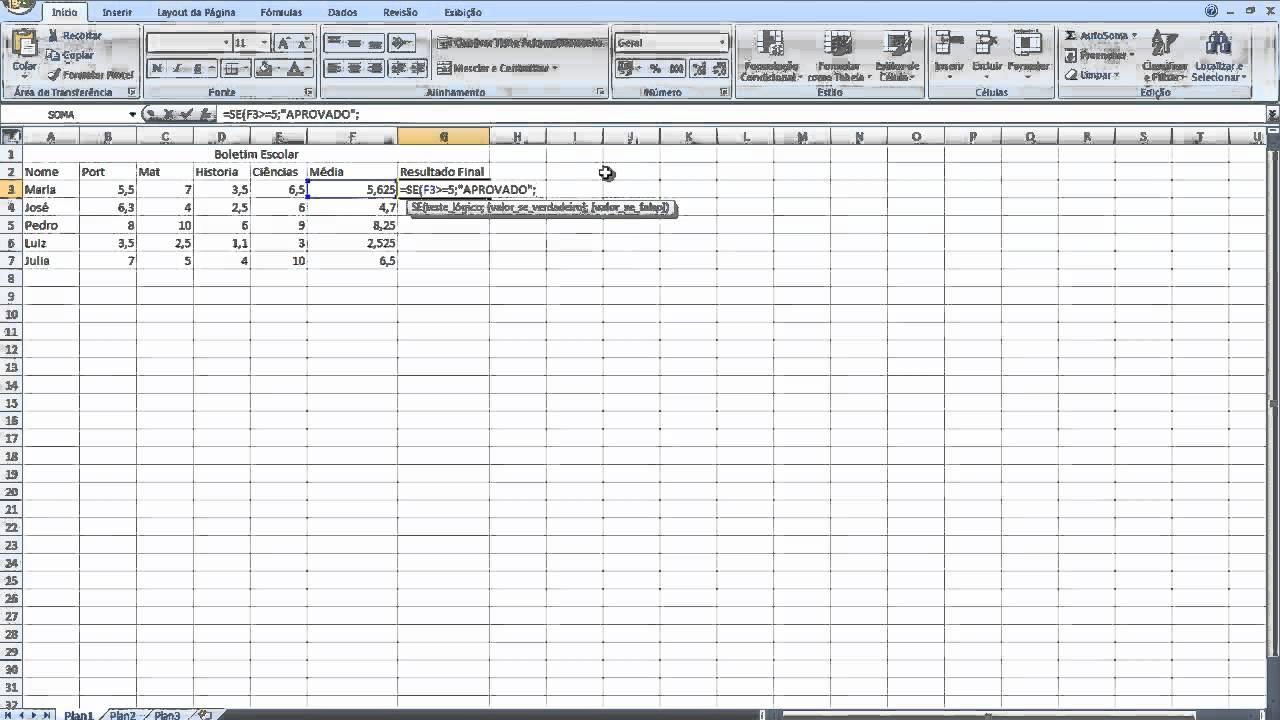 Favoritos Excel - Média , =SE (modo rápido) - YouTube PV91