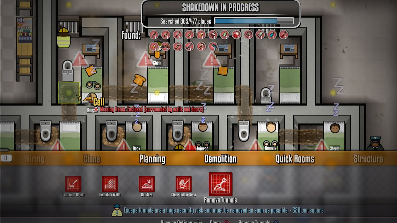 Prison Architect PS4 Tips How To Remove Tunnels How To Find