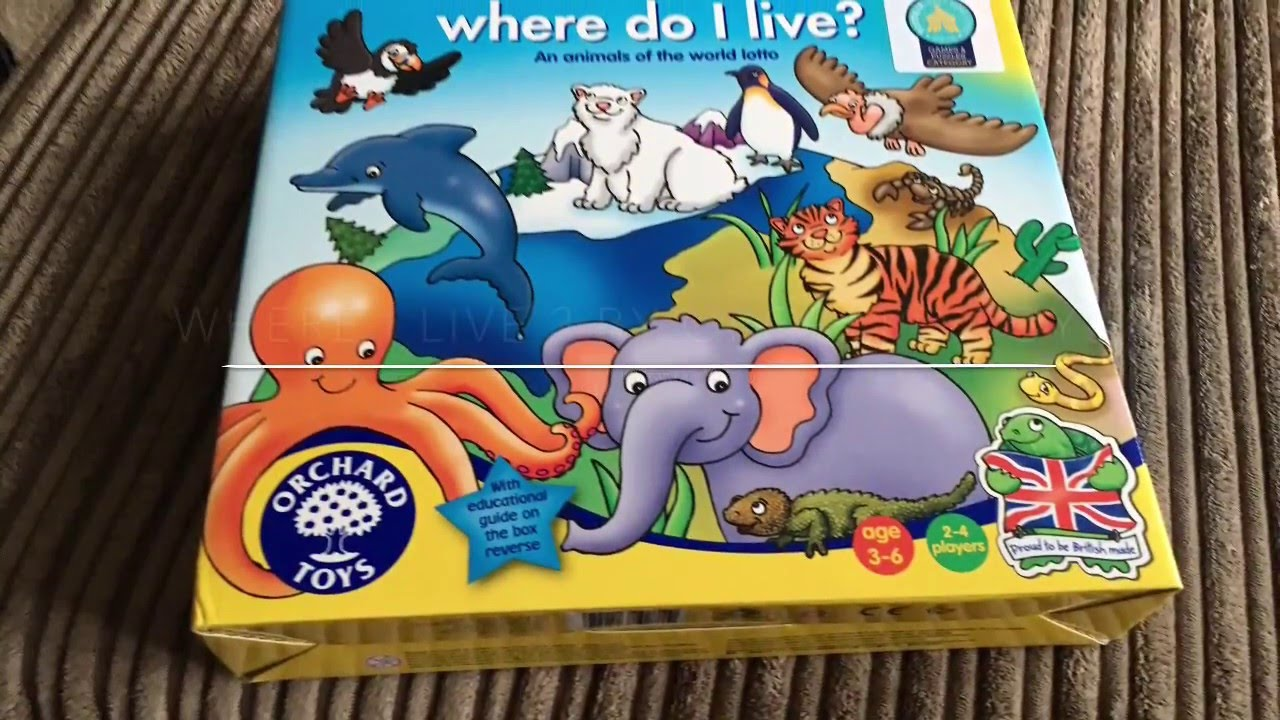 Where Do I Live By Orchard Toys Review Youtube Children will enjoy talking about the unusual animals from around the world, including turtles under the sea, camels in the desert. where do i live by orchard toys review