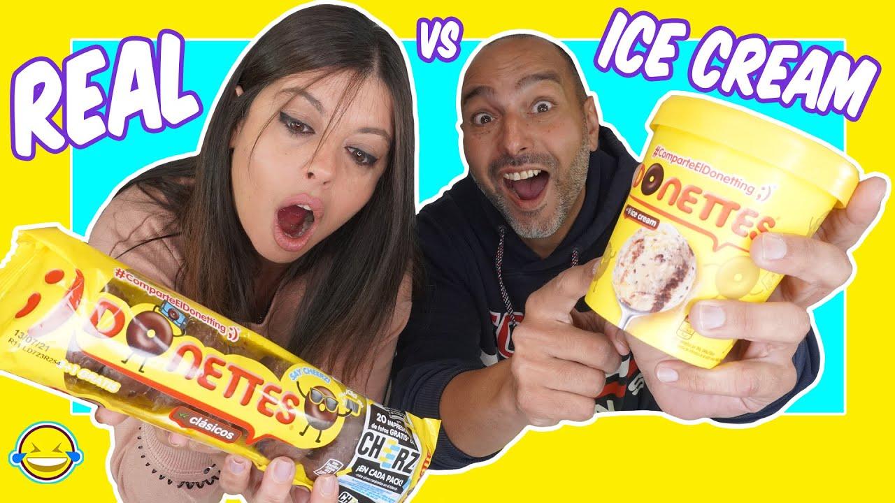Comida Real vs Comida de Helado!!! Real Food vs Ice Cream Jordi y Bego Momentos Divertidos