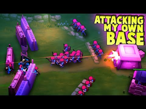 ATTACKING MY Own Base!  Enemy Paratroopers!  (Guns Up! Multiplayer Gameplay)