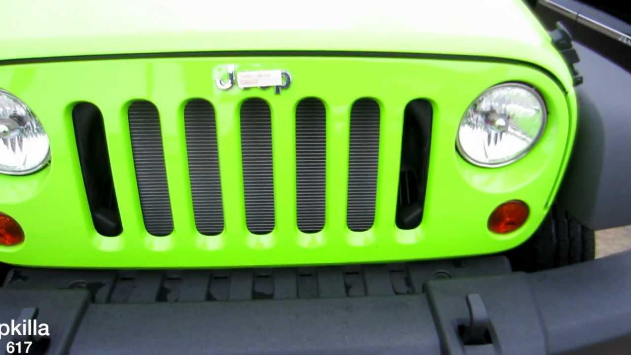 2013 Jeep Wrangler Sport Lime Green Youtube