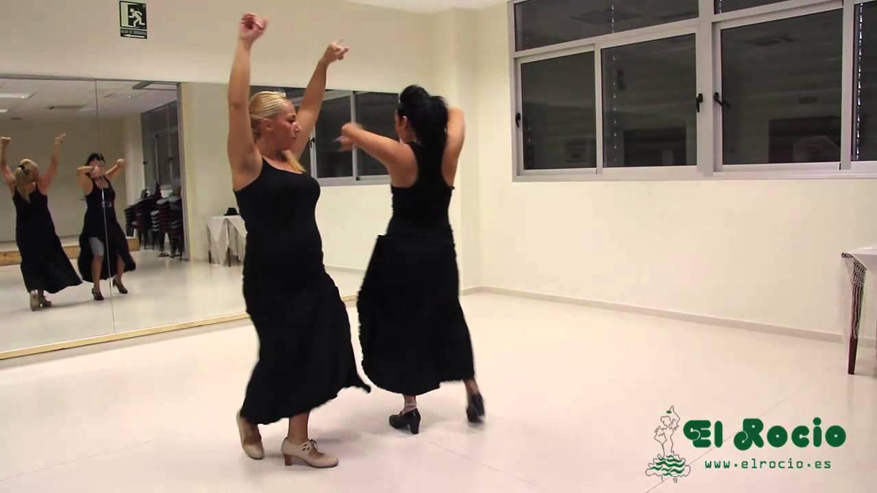 Aprender A Bailar Sevillanas La 1ª Vídeo 2 8 El Rocío Trajes De Flamenca Youtube