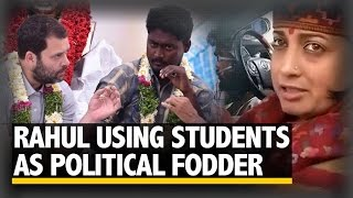 Rahul Gandhi using students as political fodder: Smriti Irani