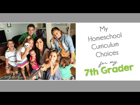 My Homeschool Curriculum Choices for 7th Grade (2015-2016)