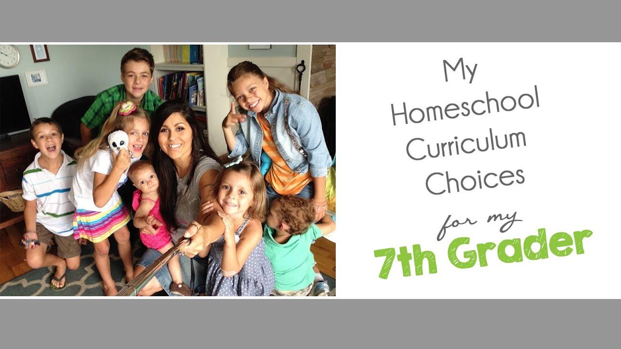My Homeschool Curriculum Choices For 7th Grade