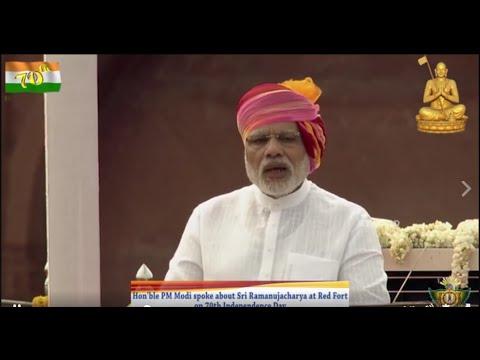 PM Narendra Modi Speech About Sri Ramanujacharya at Redfort on 70th Independence Day  Jet World