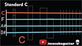 bass tuner - c standard (c f a# d#)